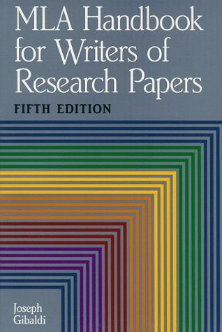 mla handbook for writers of research papers seventh edition by joseph gibaldi