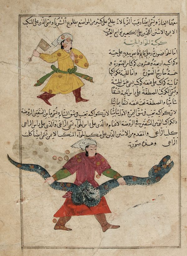 Folio from a Aja'ib al-makhluqat (Wonders of Creation) by al-Qazvini early 15th century