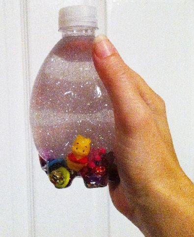 Easy Peasy DIY Parenting Tools~Giant punch bags, I-spy jars, Book nooks, Calm-me-jars,