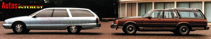 OG | 1991 Chevrolet Caprice Station Wagon Mk4 | Full-size mock-up compared with previous generation