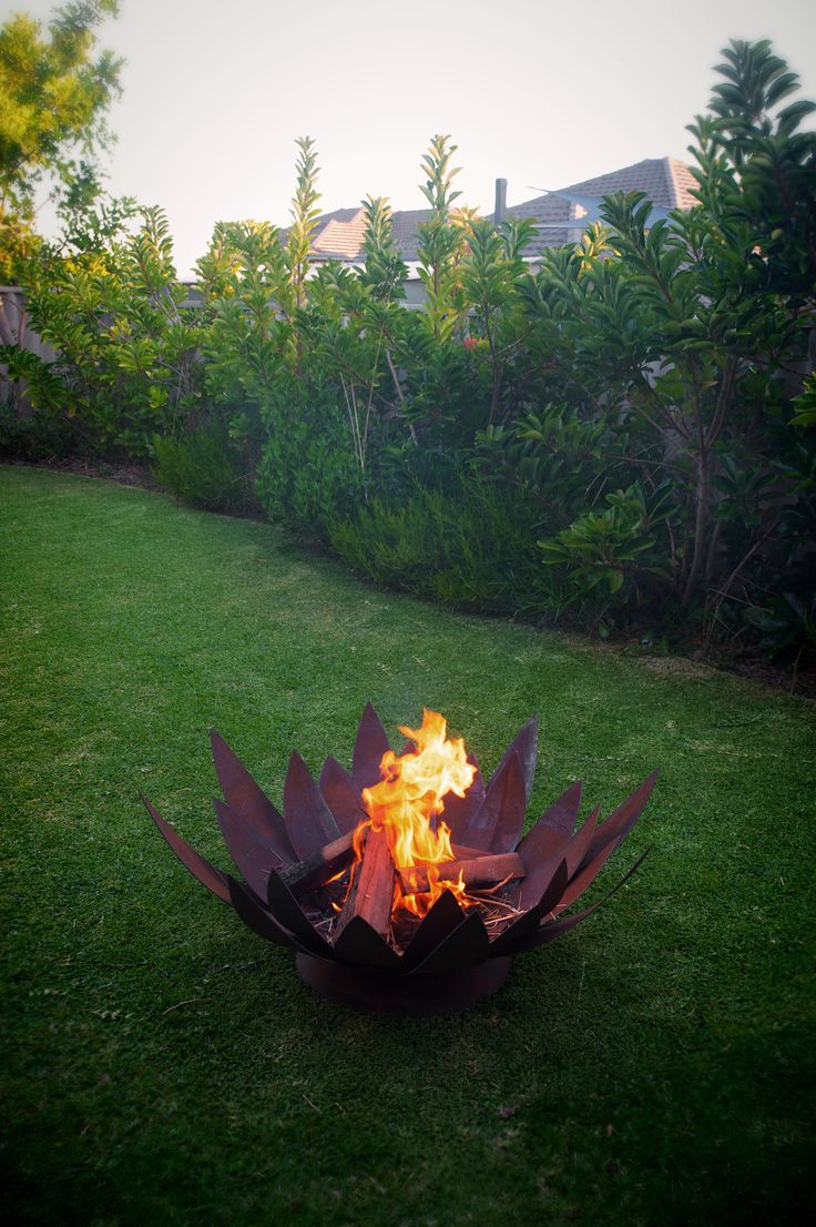 Lotus design fire pit by Tavoli Designs. Tavoli Designs build different fire pits based on your order.