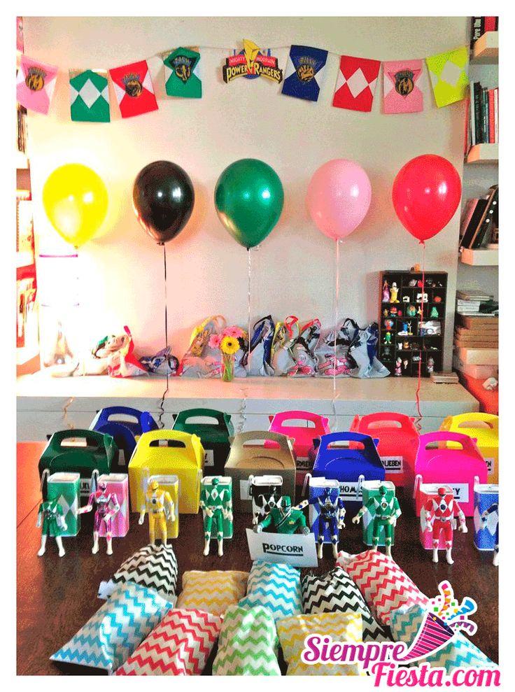 25 best images about fiesta de power rangers on pinterest - Ideas fiestas tematicas ...