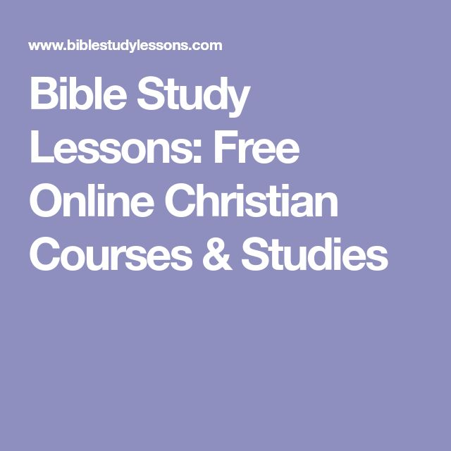 Free Online Bible Study Courses | Learn More About The ...