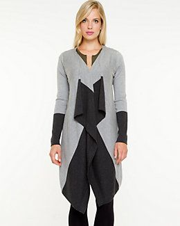 Colour Block Open-front Throwover from Le Chateau. #Ottawa #GoBillings #Fashion #BackToSchool