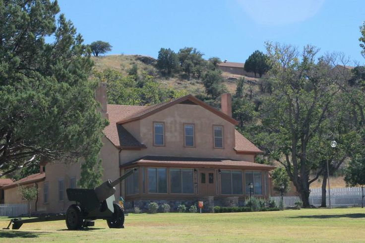 "Historic Fort Huachuca - ""Officer's Row"" and Brown Parade Field"