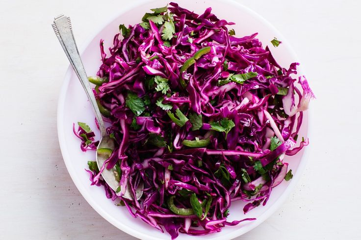 And here's my finished red cabbage slaw, ready for taco night!