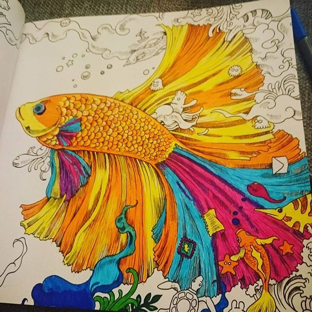 Fish From Animorphia Adult ColoringColoring BooksArt