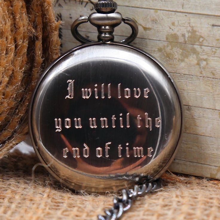 Classic Engraved Men's Pocket Watch - Personalized Wedding gift, Graduation gifts, Anniversary gifts - Ships from CanadaCase Size: 45mm ( 1 3/4'') in diameterPocket watch Chain: 14.5'' bronze finishThis pocket watch can be purchase with or without engravings. Engraving will be on back metal of the pocket watch. With engravings:a) Initial Engravings: choose up to 4 initials b) Message Engravings: No limits on the text but for the best results, I would advise a maximum ...