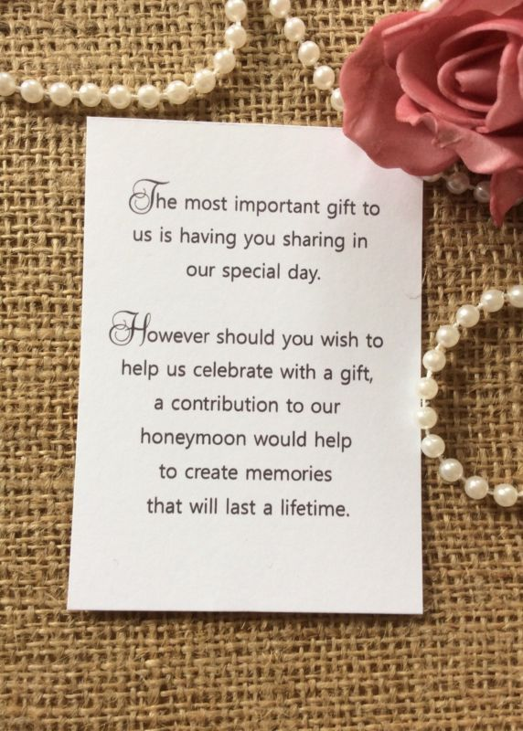 Wedding Gift Wording For Honeymoon: 25+ Best Ideas About Wedding Gift Poem On Pinterest
