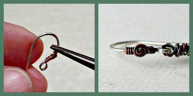 Free embellished ear wire tutorial, DIY from Art Jewelry Elements: Saturday Share: Ear wires...with a twist!