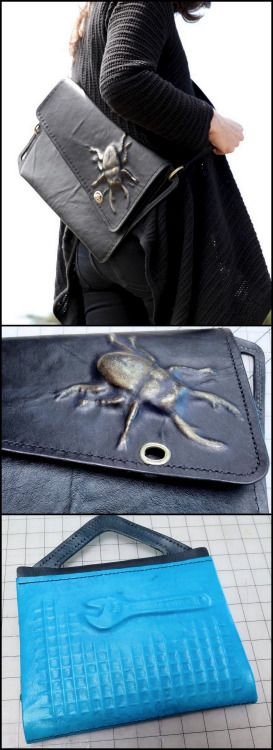 DIY Embossed Leather BagI was so happy to see this...                                                                                                                                                                                 More