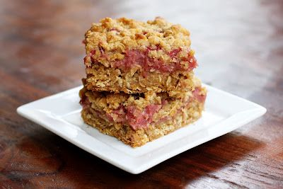 rhubarb crumble bars, redone… a bigger batch!