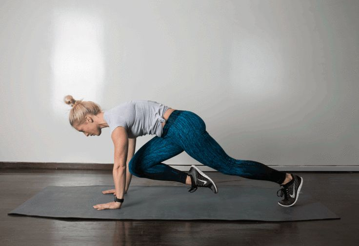 2. Mountain Climber #abs #bodyweight #workout http://greatist.com/move/best-exercises-lower-abs