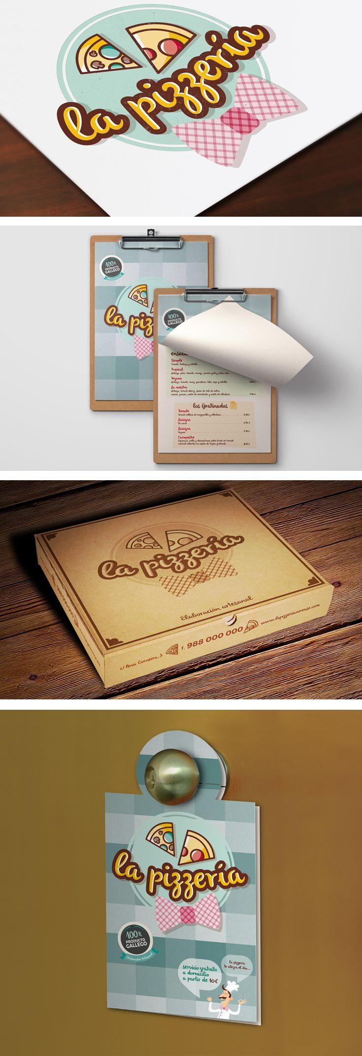 Campaña de identidad visual para pizzería