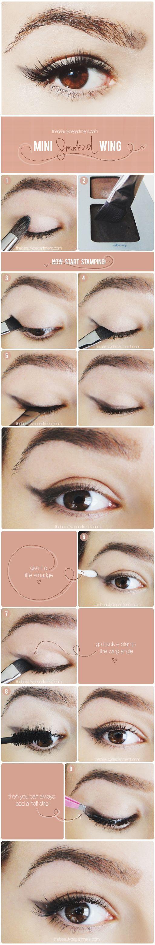 En mjukare variant på eyeliner är att göra med skugga istället för en flytande, perfekt till vardags! Bilder från The Beauty Department.