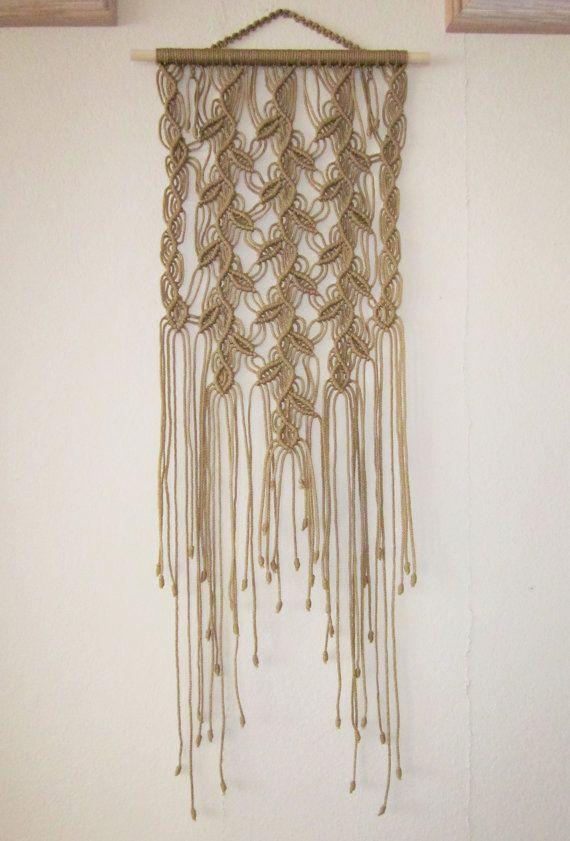Macrame Wall Hanging Three Sprigs Handmade Macrame by craft2joy