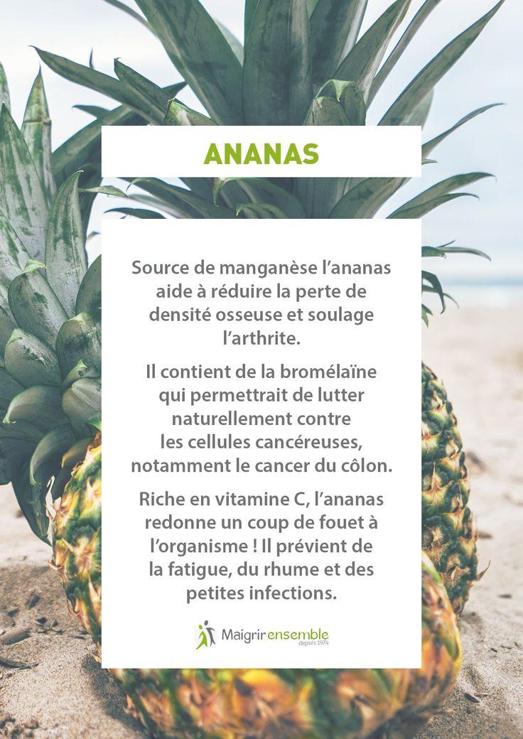 Bienfaits Fruits et Légumes - L'Ananas // Bienfaits Alimentation saine et équilibrée