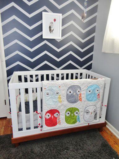Owl Be Born Soon - CUSTOM Baby crib quilt top
