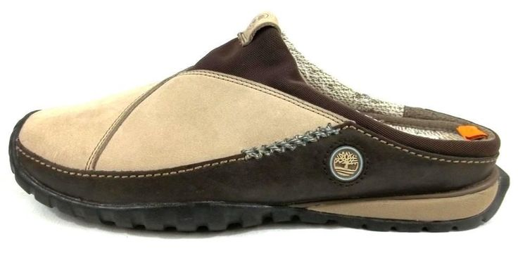Timberland Smartwool Shoes Beige Leather Slip On Clog