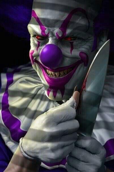Dark art: Scary Clown