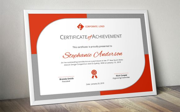 Modern certificate template (docx) by Inkpower on @creativemarket