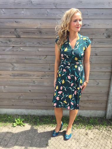 Kleding :: A-lijn kleedjes :: Emmy dress wisdom dragonfly green - King Louie