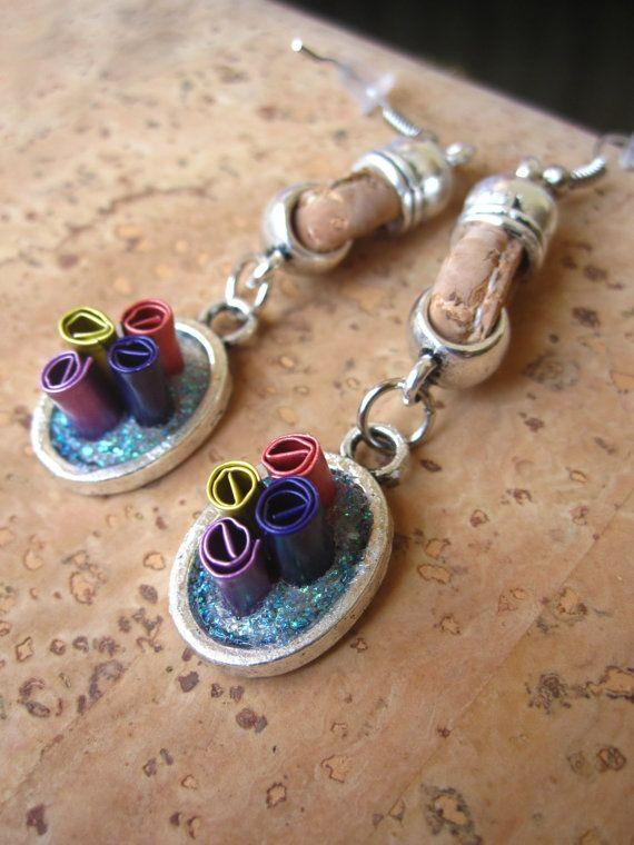 Pendants d'oreilles avec des capsules de café par WanderTrade, £9.00