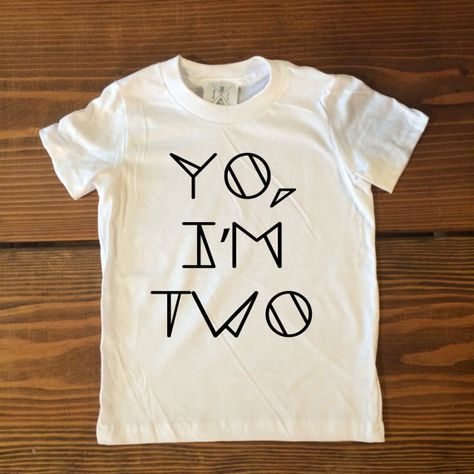 YO, I'M TWO, Second Birthday Shirt, Two Year Old Birthday Shirt, Toddler t-shirt, Trendy kids clothes, Hipster kids clothes, Birthday Party