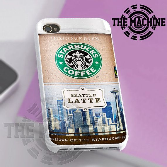 Starbuck Coffe Seattle Latte - iPhone 4/4s/5 Case - Samsung Galaxy S3/S4 Case - Black or White by THEMACHINEV8 on Etsy