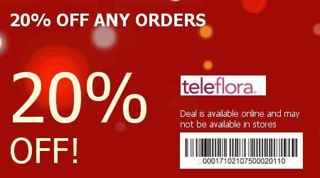 Discount coupons teleflora