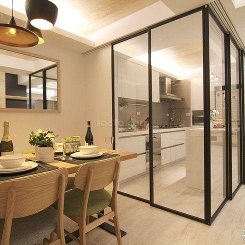 时尚家装厨房玻璃门图片@Snail_Link采集到家居(500图)_花瓣