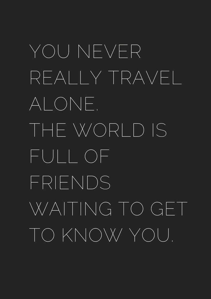 10+ Motivational Solo Travel Quotes – Black & White