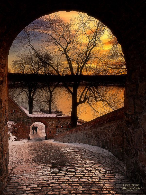 Akershus Castle, Oslo, Norway. You can see almost all of Oslo from this castle :)