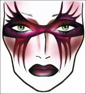 MAC COSMETICS HALLOWEEN FACE CHARTS