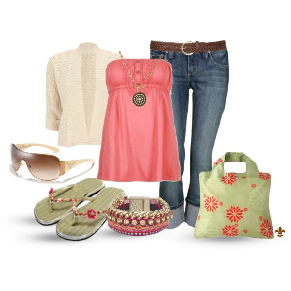 """""""Boho Coral"""" by hatsgaloore on Polyvore"""