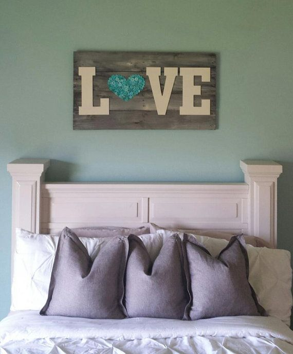 rustic barn wood pallet sign. by ModernRefinement on Etsy, $125.00