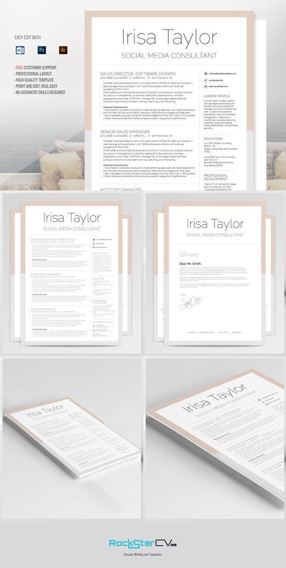 Best Font For Professional Resume Entrancing 7 Best Resumes Images On Pinterest  Resume Templates Resume Design .