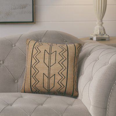 Laurel Foundry Modern Farmhouse Idella Burlap Throw Pillow