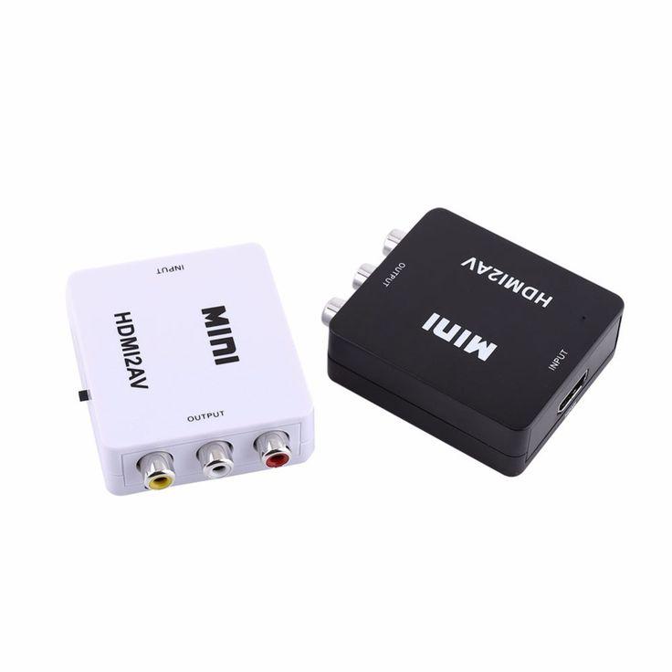 Digital HDMI to RCA Composite Video Audio AV CVBS Adapter Converter 720p/1080p HDMI2AV