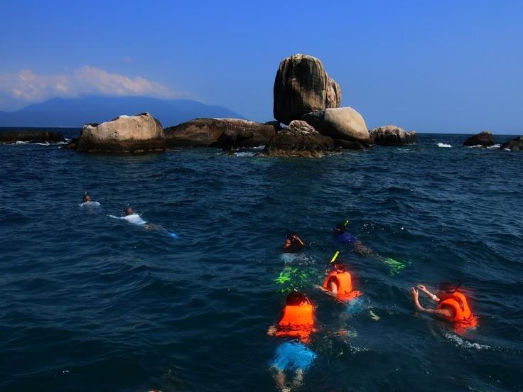 Snorkelling off Tioman Island.