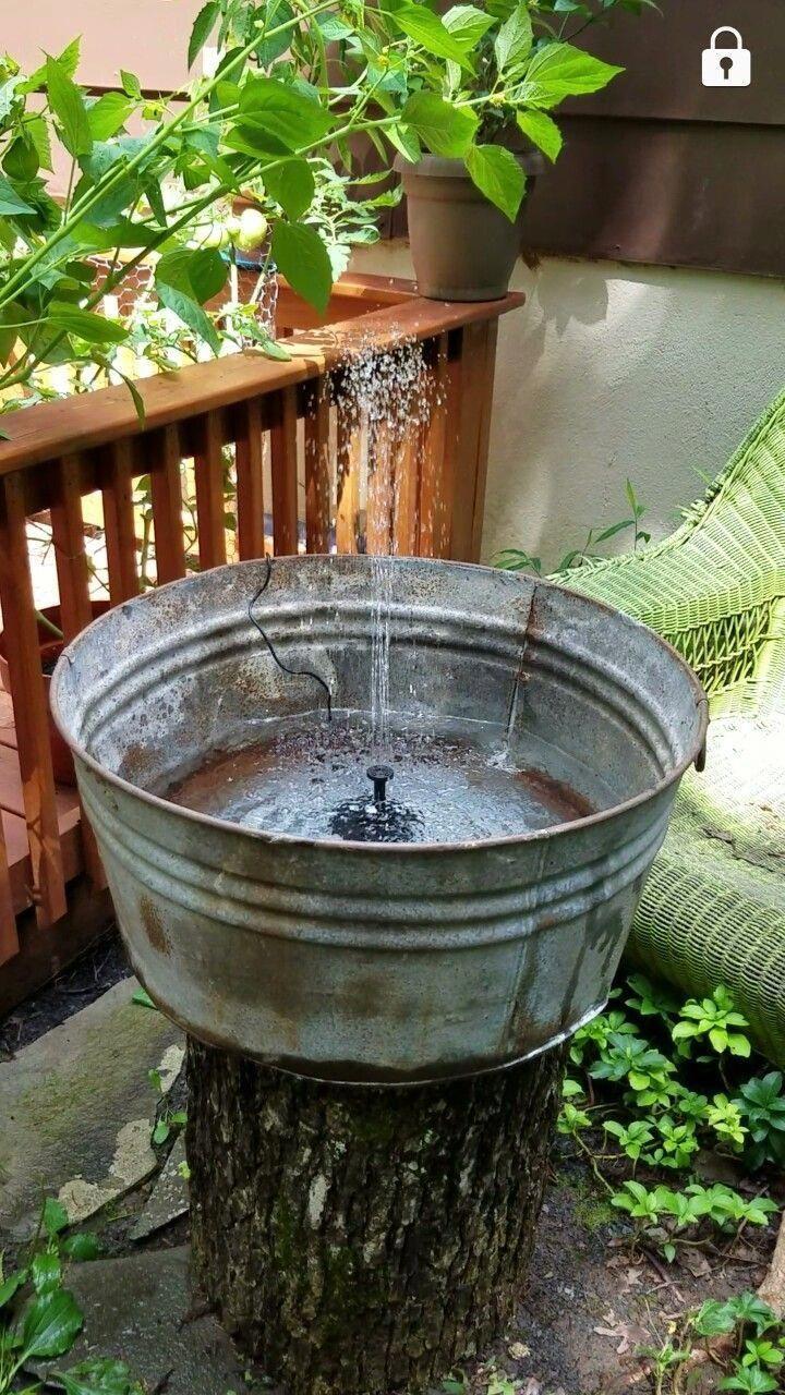 Solar Fountain Ideas Solarfountaindiy Solarfountainpatio Diysolarfountainideas Diy Garden Fountains Diy Water Fountain Water Fountains Outdoor