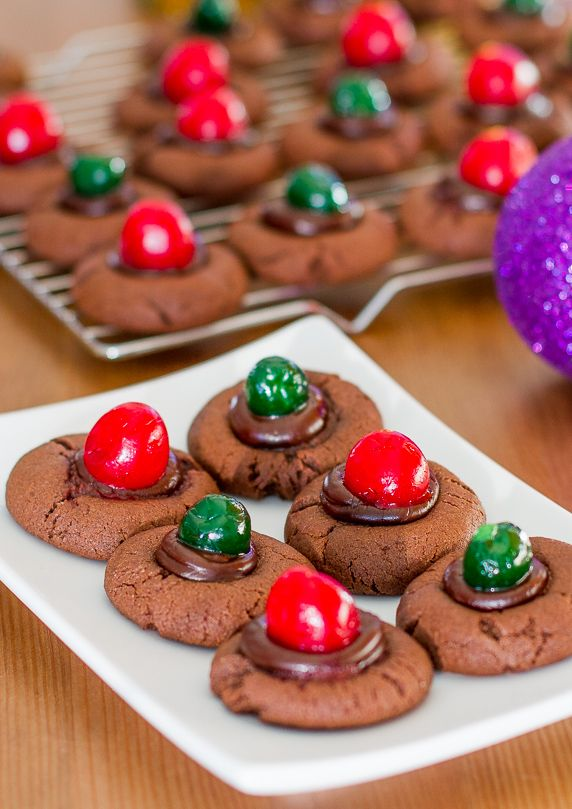 ... Cherry Cookies - adorable and festive cookies, chocolate overload