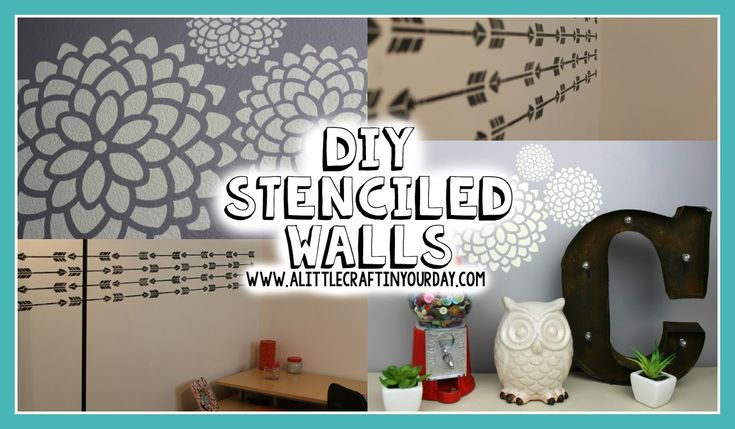A Little Craft in Your Day meets Stencil1 fora DIY Stencil1 Stenciled Wall   Easy DIY & Teen Room Decor