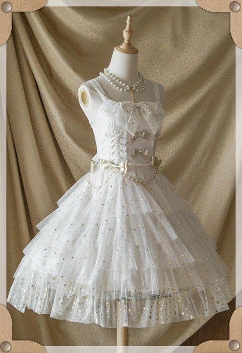 Belle Langue -Mist Starry Sky- Lolita Jumper Dress - My Lolita Dress