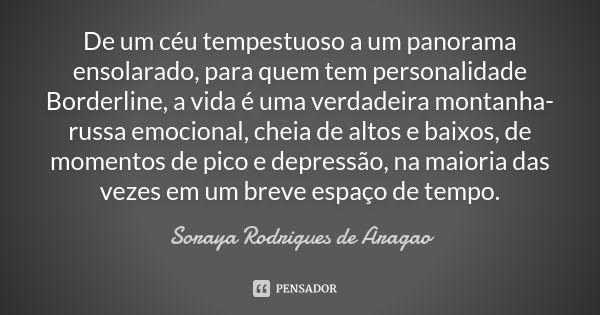 Soraya Rodrigues De Aragao Personalidade Borderline Alto E