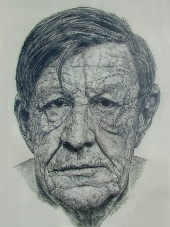 W.H. Auden portrait By David Hockney
