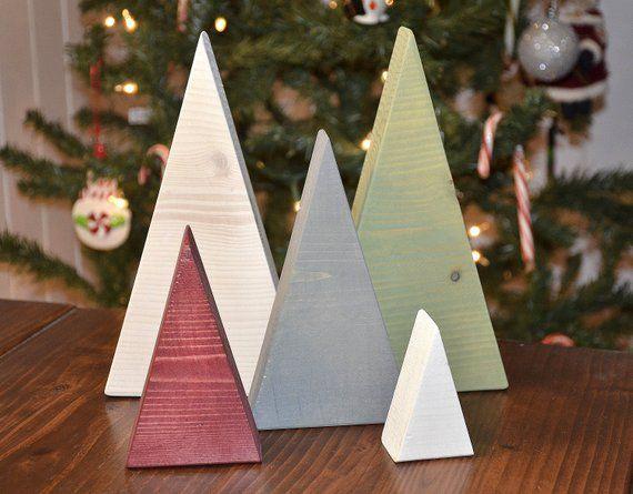 Christmas Tree Triangle Set Holiday Decor Home Decor Etsy In 2020 Diy Christmas Tree Wood Christmas Tree Christmas Diy