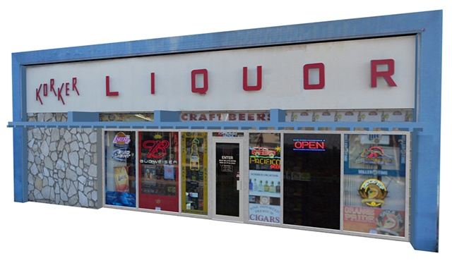 3D Model Available - The 3D Liquor store model for Poser and DAZ Studio has a door with open movement and the windows can be made clear. The inside has basic textures as well. Perfect for any street scene, animation or render.