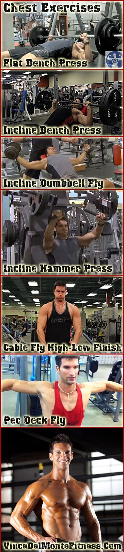 Great chest routine from Vince Del Monte - throw in some decline press with this and watch your chest explode!