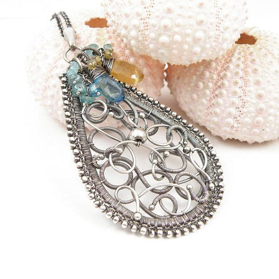 Hey, I found this really awesome Etsy listing at https://www.etsy.com/listing/109908235/sale-25-off-wire-wrap-pendant-wirework